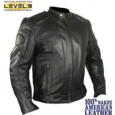 Mens Executioner Armored Black Racer Motorcycle...